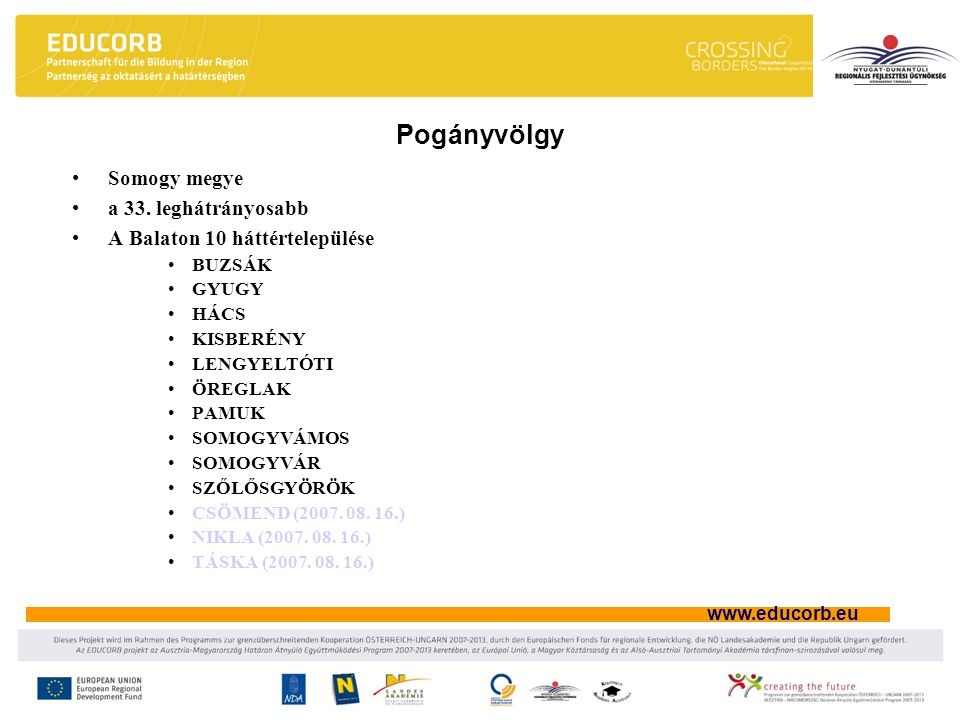 www.educorb.eu Somogy megye a 33.