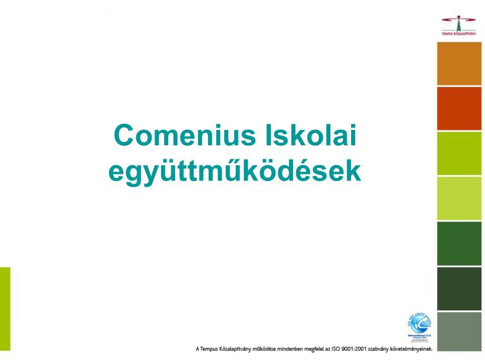 Ki vehet részt Comenius Iskolai együttműködések akcióban.