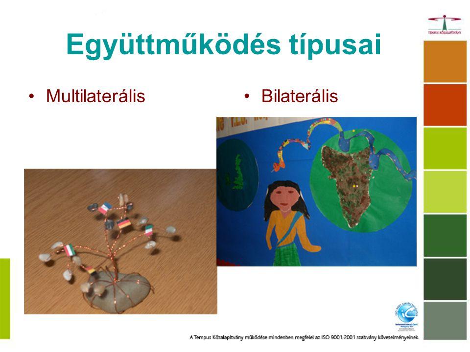 Együttműködés típusai MultilaterálisBilaterális
