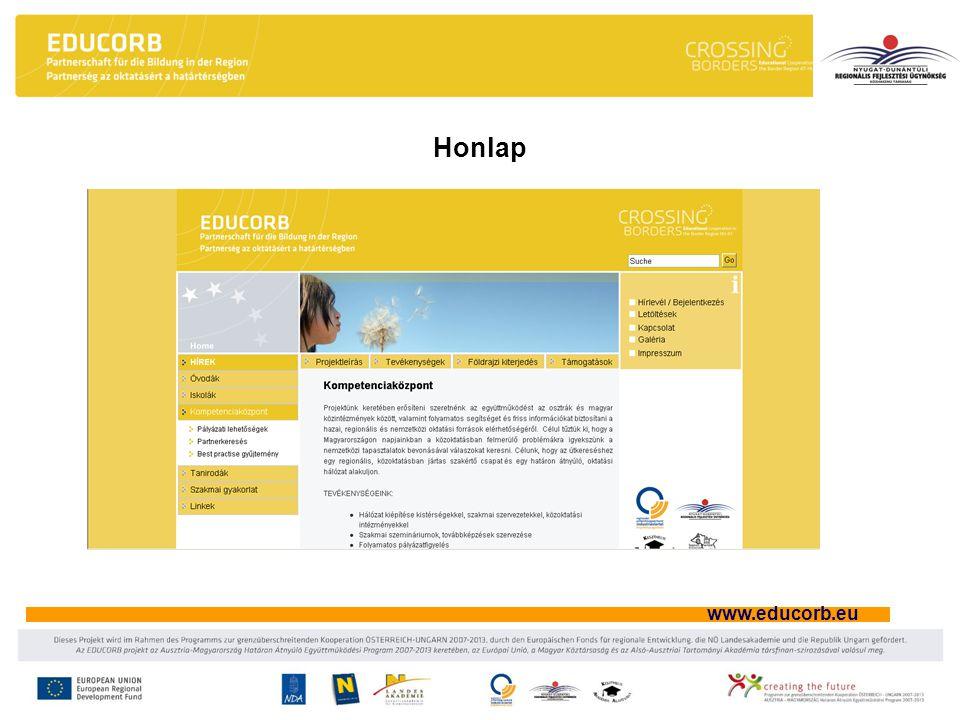 www.educorb.eu Honlap