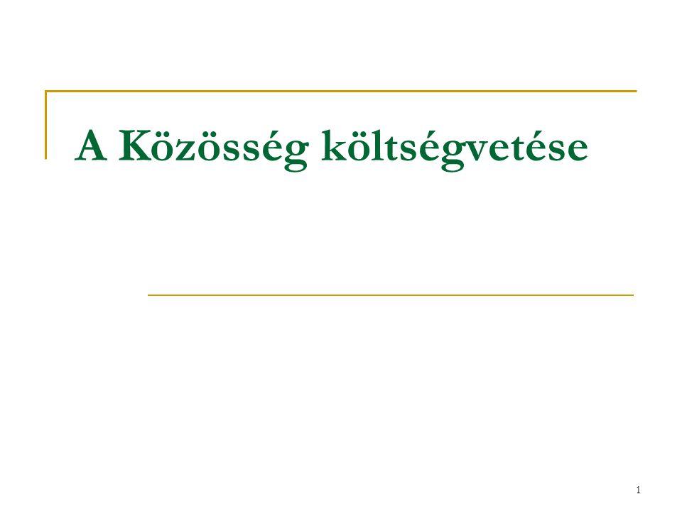 22 Kiadási fejezetek a költségvetésben Megnevezés2007 Mrd € 1.
