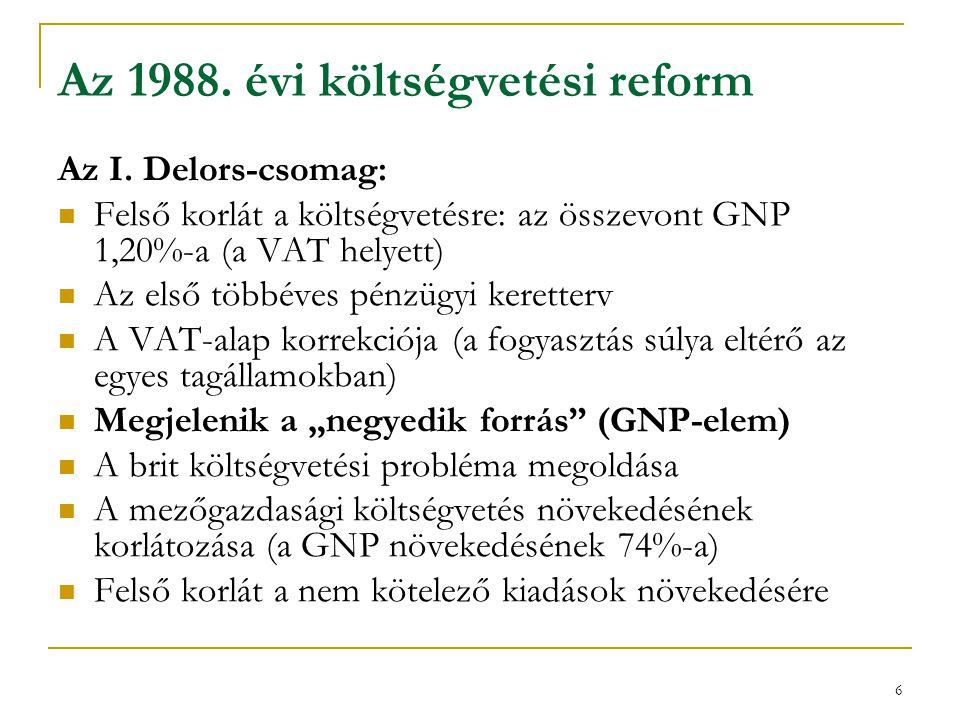 7 Az 1992.évi költségvetési reform A II.