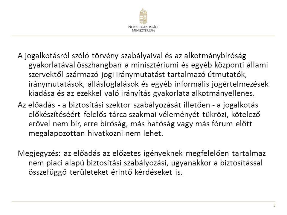 3 1.Változások az uniós szabályozásban Szolvencia 2 (Omnibusz 2), IMD 2, PRIP, IGS helyzetkép 2.