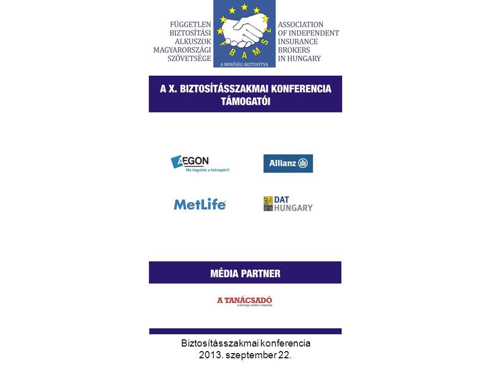 Biztosításszakmai konferencia 2013. szeptember 22. 13