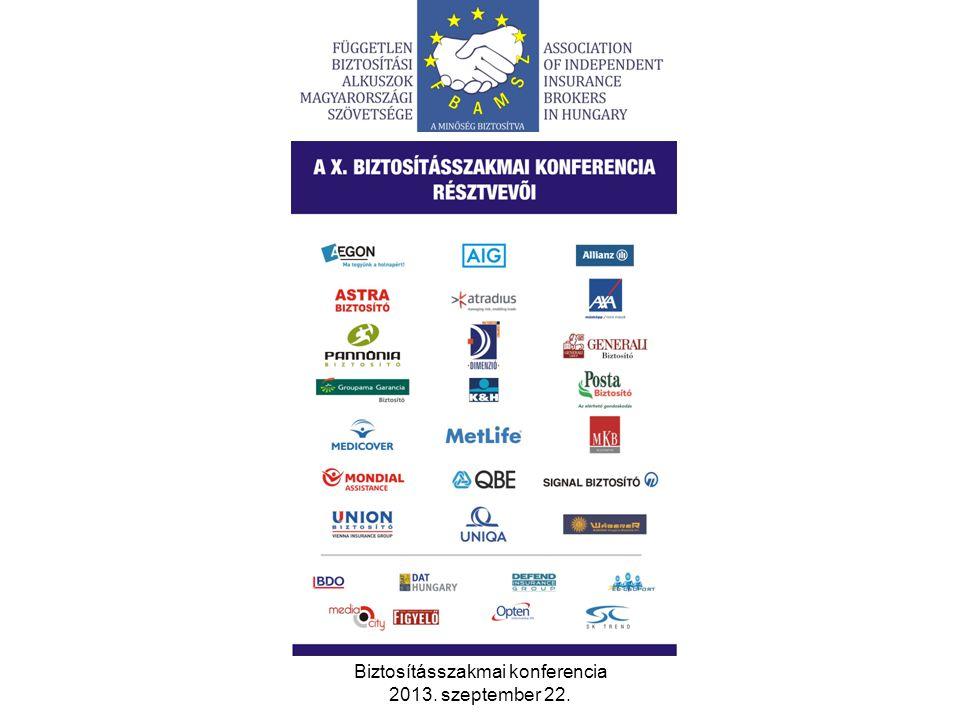 Biztosításszakmai konferencia 2013.szeptember 22.
