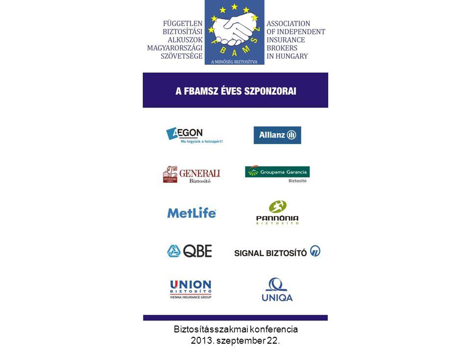 Biztosításszakmai konferencia 2013. szeptember 22. 15