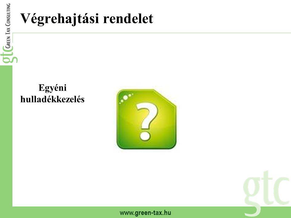 www.green-tax.hu Végrehajtási rendelet Egyéni hulladékkezelés