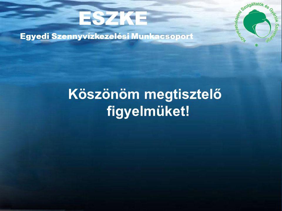 ESZKE Egyedi Szennyvízkezelési Munkacsoport Köszönöm megtisztelő figyelmüket!