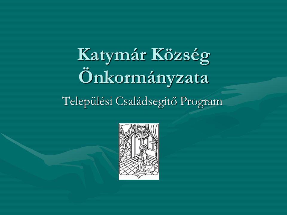 Katymár Község Önkormányzata Települési Családsegítő Program
