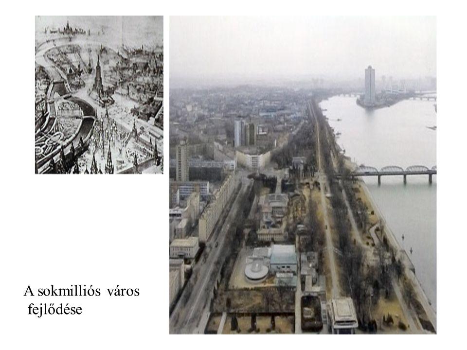 A sokmilliós város fejlődése