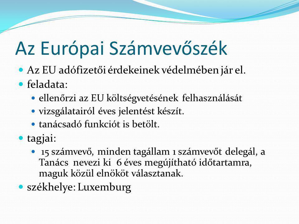 Az Európai Számvevőszék Az EU adófizetői érdekeinek védelmében jár el.