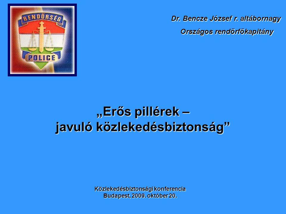 """""""Erős pillérek – javuló közlekedésbiztonság Dr. Bencze József r."""
