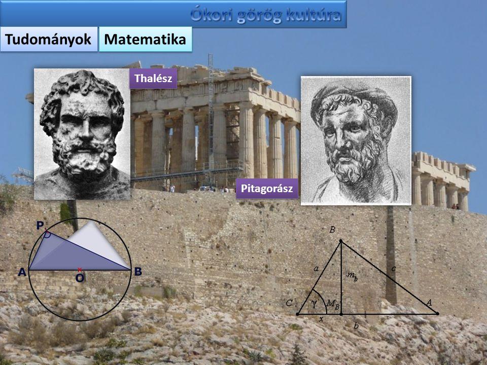 Tudományok Matematika Thalész Pitagorász