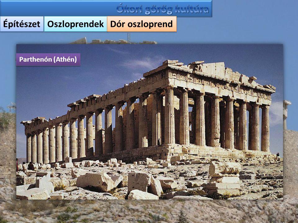 Építészet Oszloprendek Dór oszloprend Parthenón (Athén)