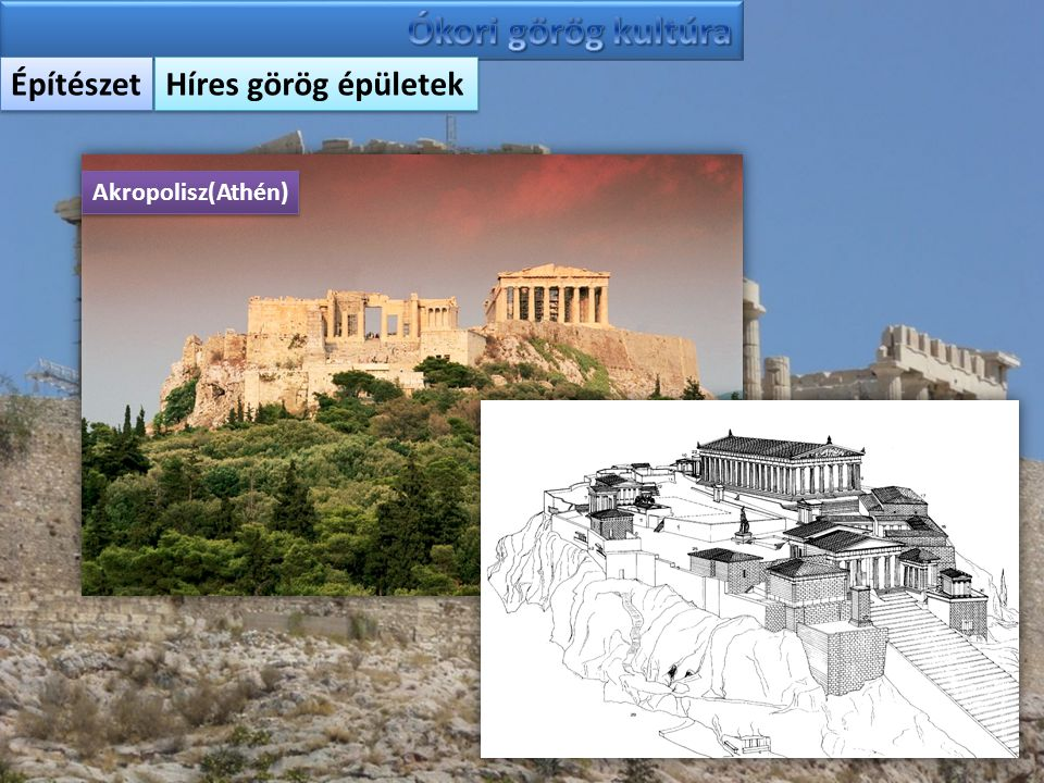Építészet Híres görög épületek Akropolisz(Athén)