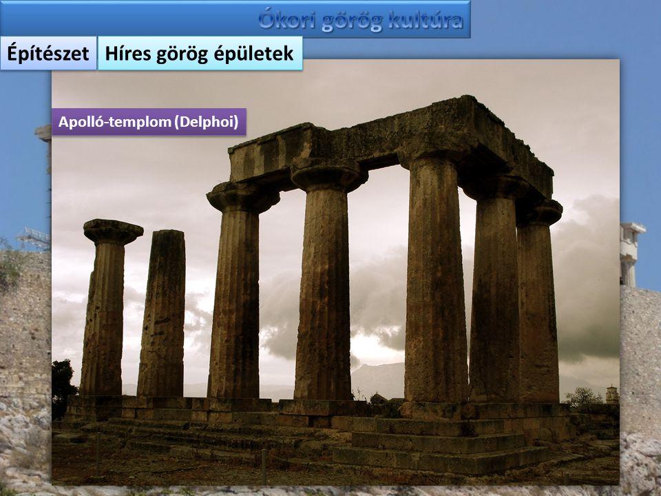Építészet Híres görög épületek Apolló-templom (Delphoi)