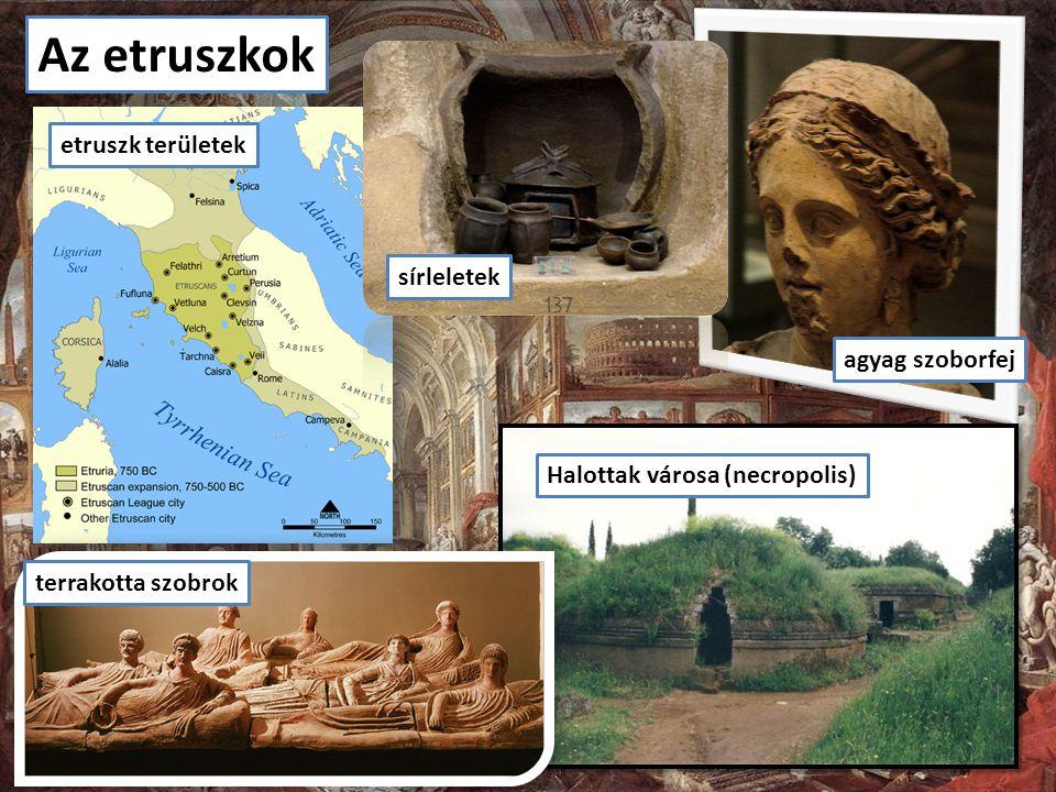 Az etruszkok etruszk területek agyag szoborfej sírleletek Halottak városa (necropolis) terrakotta szobrok