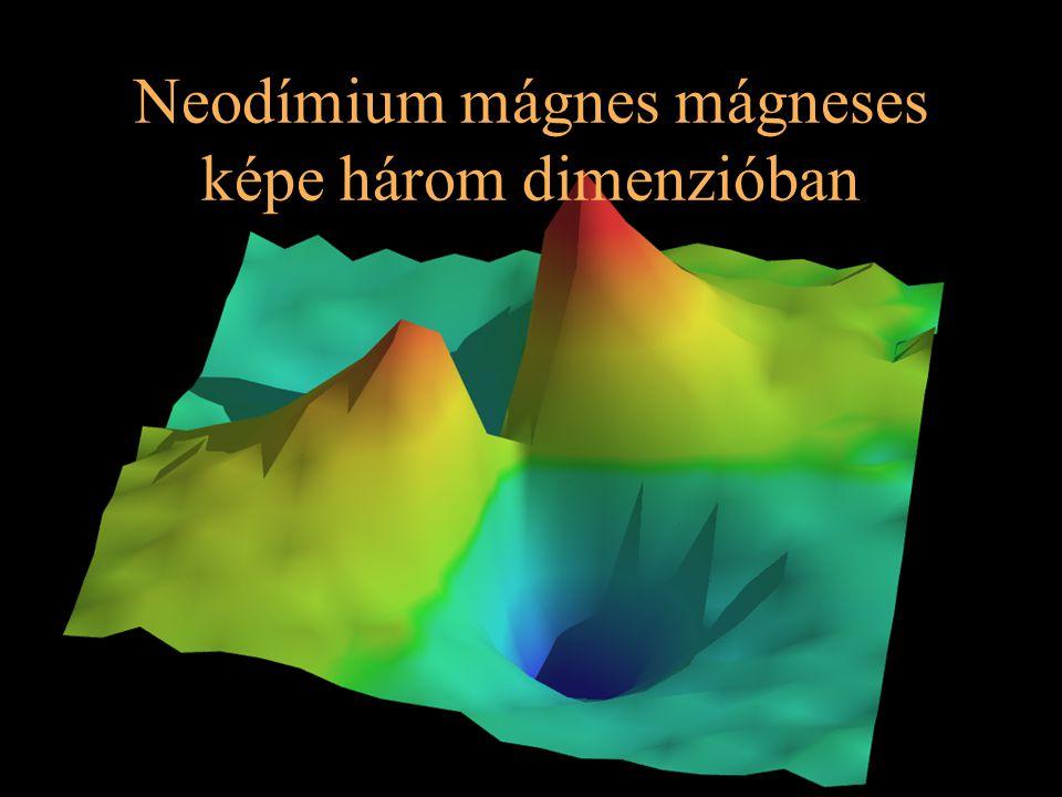 10 Neodímium mágnes mágneses képe három dimenzióban