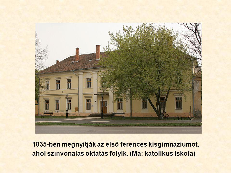 1835-ben megnyitják az első ferences kisgimnáziumot, ahol színvonalas oktatás folyik.
