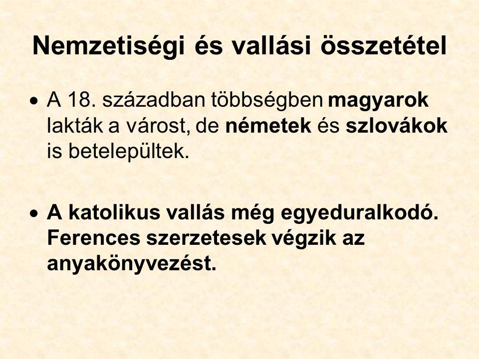 Nemzetiségi és vallási összetétel  A 18.