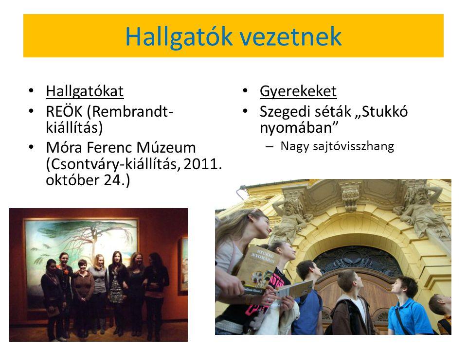 """Hallgatók vezetnek Hallgatókat REÖK (Rembrandt- kiállítás) Móra Ferenc Múzeum (Csontváry-kiállítás, 2011. október 24.) Gyerekeket Szegedi séták """"Stukk"""