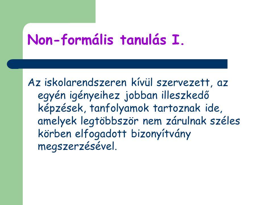 Non-formális tanulás I.
