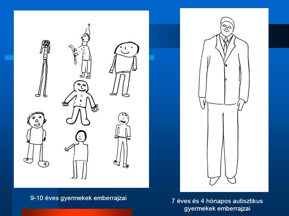 9-10 éves gyermekek emberrajzai 7 éves és 4 hónapos autisztikus gyermekek emberrajzai