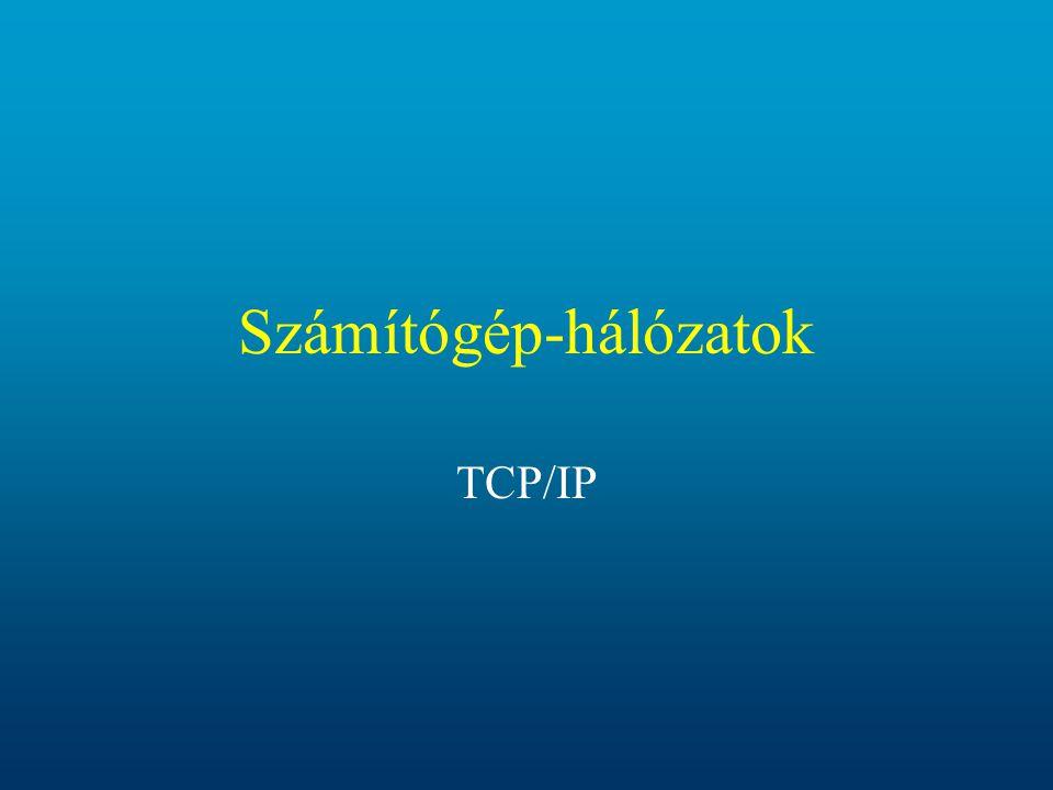 Számítógép-hálózatok TCP/IP