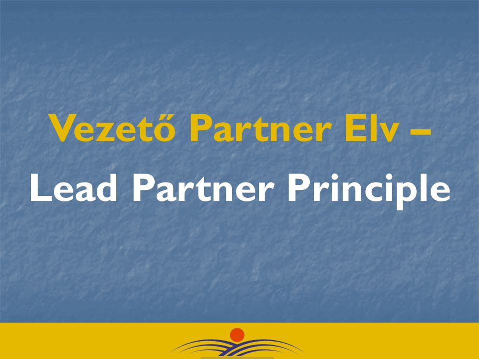 Vezető Partner Elv – Lead Partner Principle