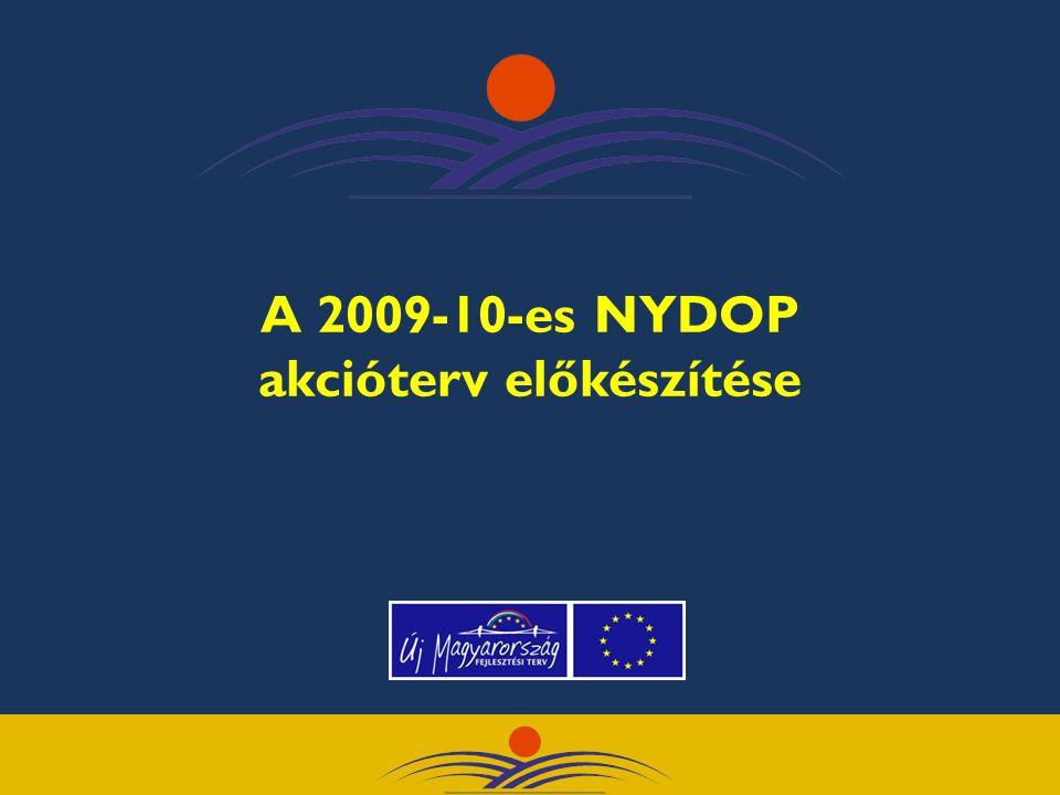 A 2009-10-es NYDOP akcióterv előkészítése