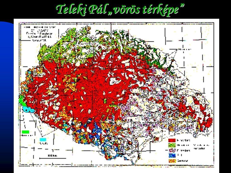 """Teleki Pál """"vörös térképe"""""""