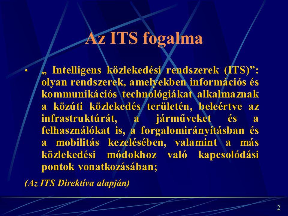 """1 """"Intelligens közlekedési rendszerek és szolgáltatások Magyarországon az európai tendenciák tükrében"""" Dr.-habil. Lindenbach Ágnes tanszékvezető egyet"""