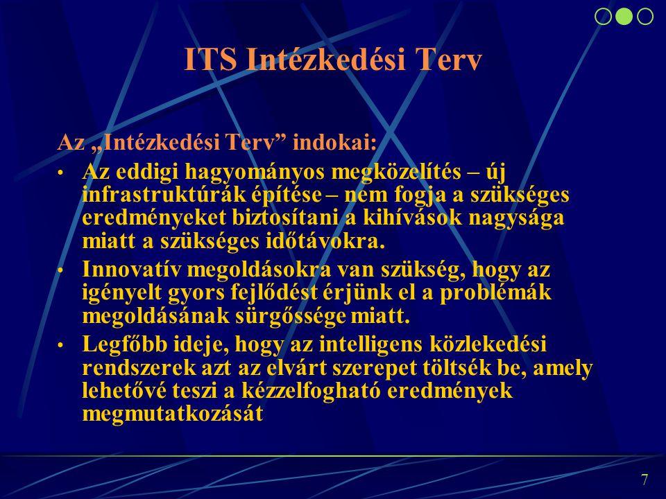 """6 """"Intézkedési Terv az ITS rendszerek európai alkalmazásához"""" (2009. december), """"Keret-rendszer meghatározására az intelligens közlekedési rendszerekn"""