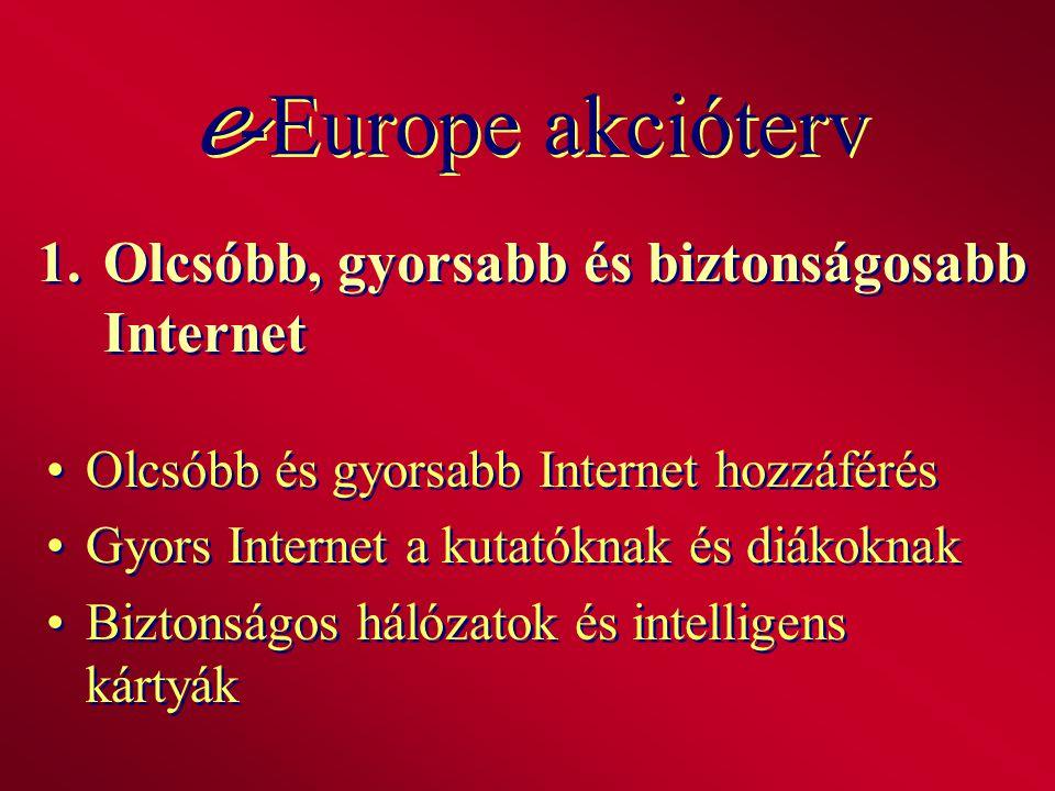 1.Olcsóbb, gyorsabb és biztonságosabb Internet Olcsóbb és gyorsabb Internet hozzáférés Gyors Internet a kutatóknak és diákoknak Biztonságos hálózatok