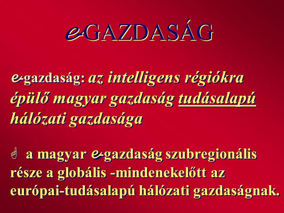 e e -gazdaság: az intelligens régiókra épülő magyar gazdaság tudásalapú hálózati gazdasága  a magyar e -gazdaság szubregionális része a globális -min