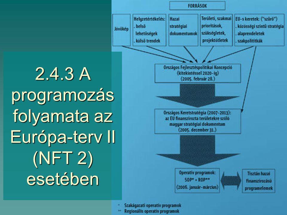 2.4.2 A fejlesztési tervek hierarchiája, egymásra épülése