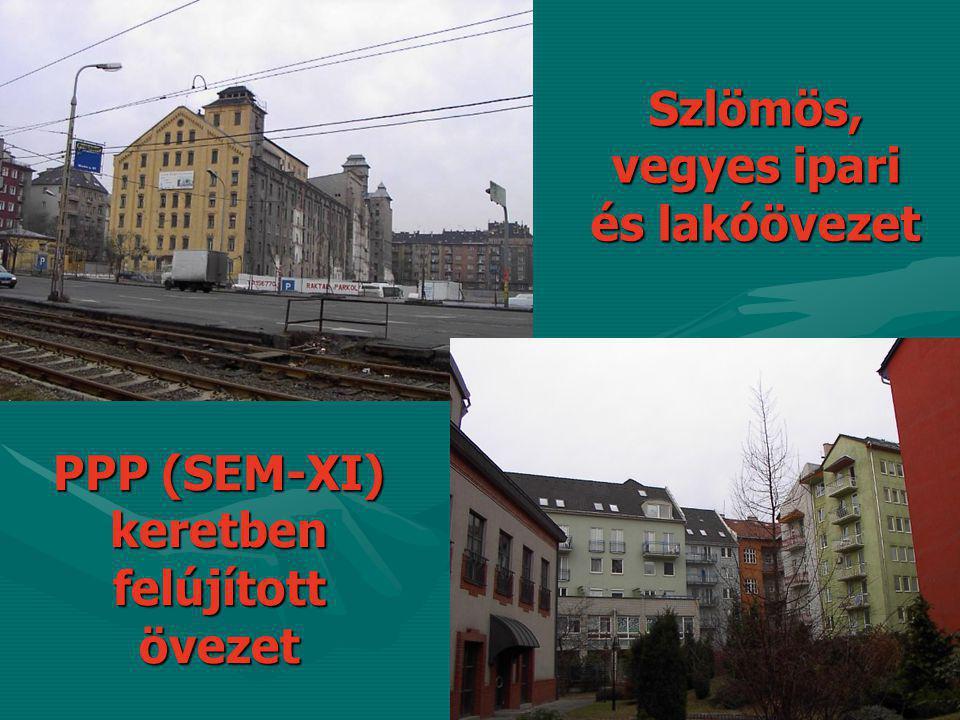 Szlömös, vegyes ipari és lakóövezet PPP (SEM-XI) keretben felújított övezet