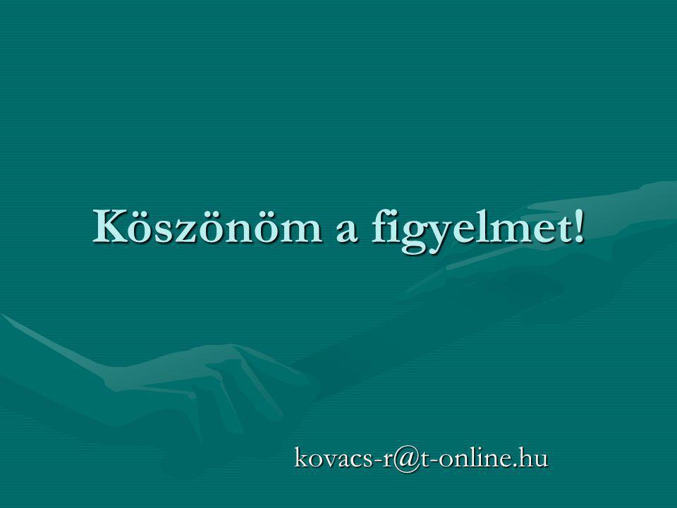Köszönöm a figyelmet! kovacs-r@t-online.hu