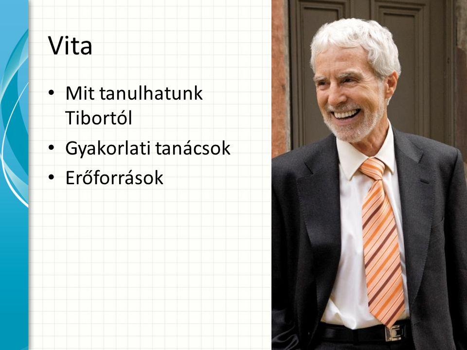 Vita Mit tanulhatunk Tibortól Gyakorlati tanácsok Erőforrások