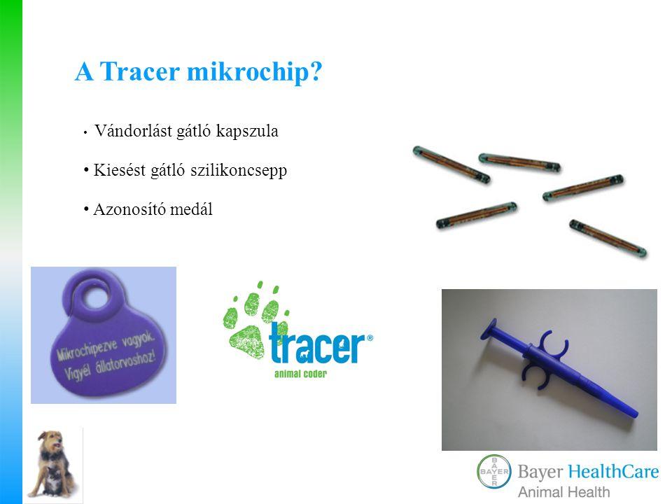 Vándorlást gátló kapszula Kiesést gátló szilikoncsepp Azonosító medál A Tracer mikrochip?