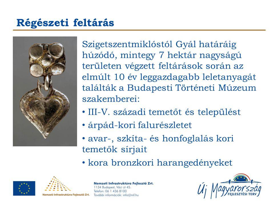 Régészeti feltárás Szigetszentmiklóstól Gyál határáig húzódó, mintegy 7 hektár nagyságú területen végzett feltárások során az elmúlt 10 év leggazdagab