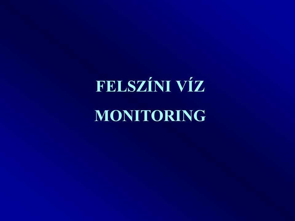 Vízminőségi és mennyiségi monitoring Olyan megfigyelő rendszer, melynek feladata a felszíni és felszín alatti vizek állapotának nyomon követése, mintavételezés és elemzés útján.