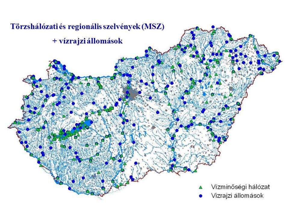 + vízrajzi állomások