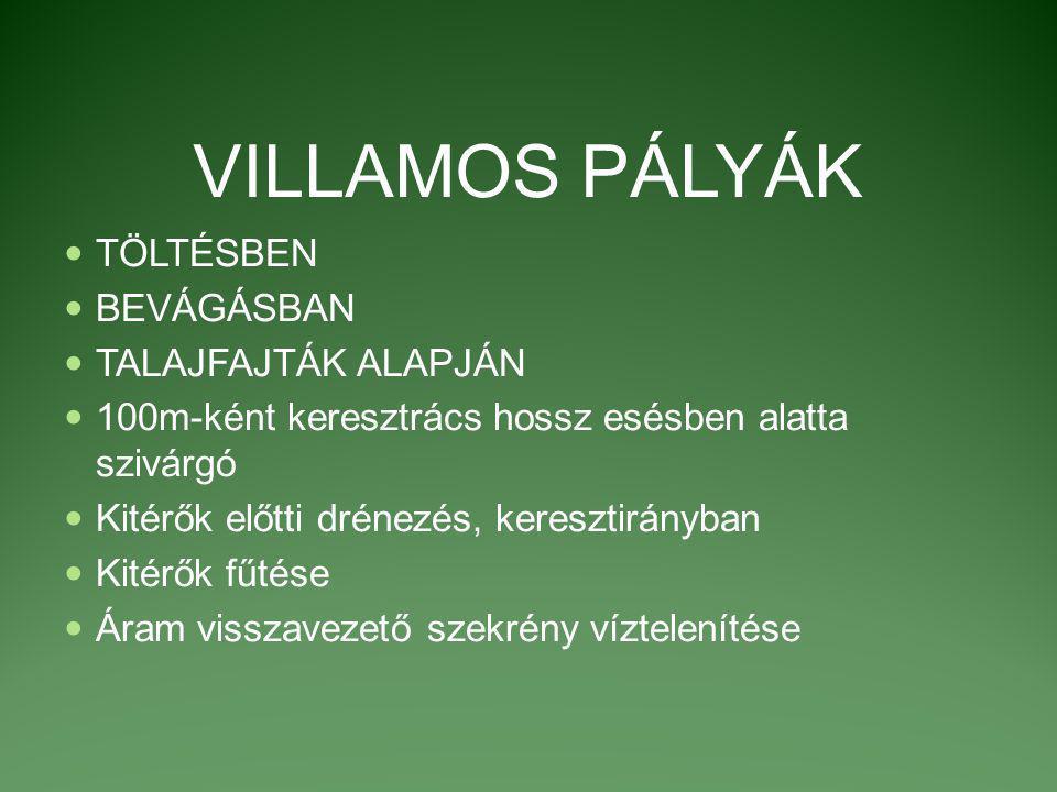 VILLAMOSPÁLYÁK II.SZEGÉLYEK KÖZÖTT BURKOLT PÁLYA, Pld.