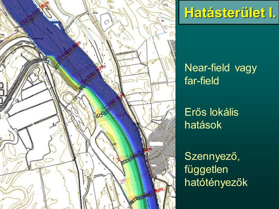 Hatásterület I. Near-field vagy far-field Erős lokális hatások Szennyező, független hatótényezők