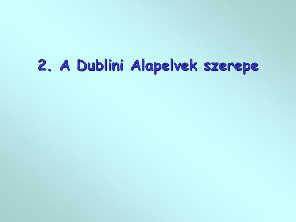2. A Dublini Alapelvek szerepe
