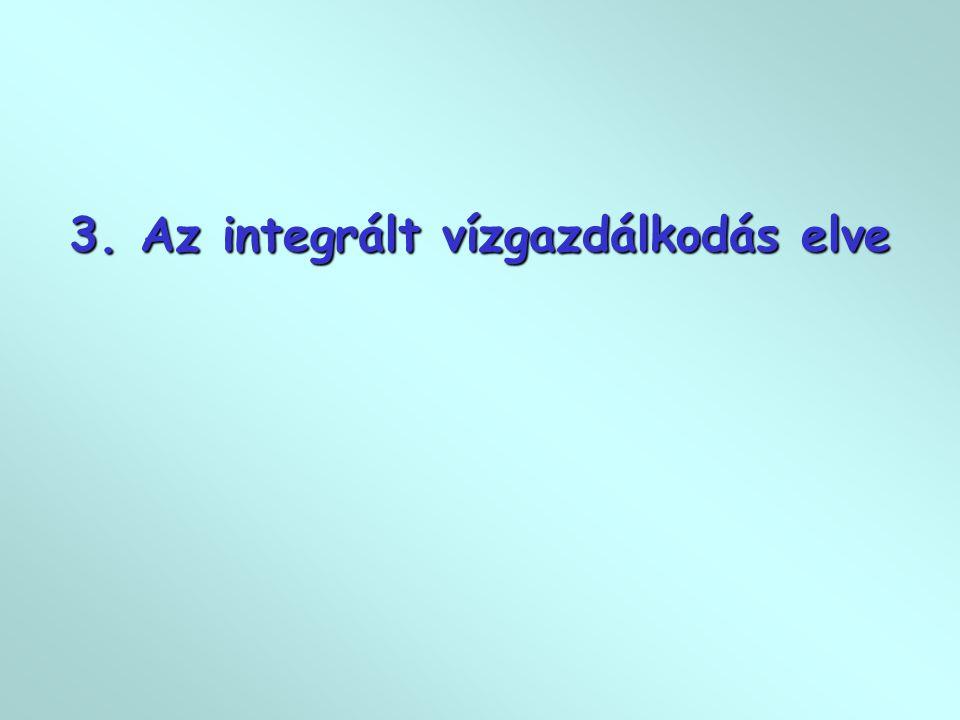 3. Az integrált vízgazdálkodás elve