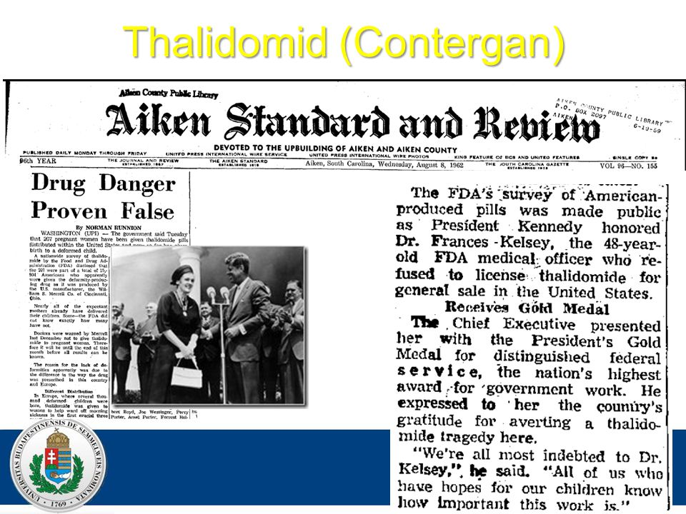 Thalidomid (Contergan) DR. Z AJZON G ERGELY