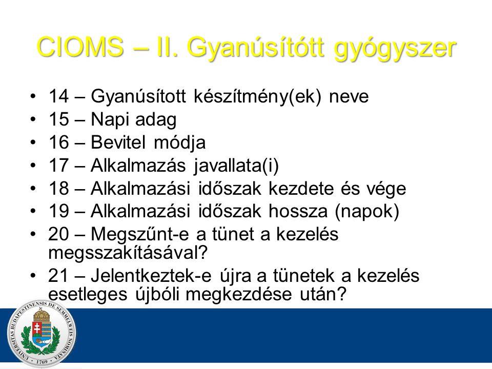 CIOMS – II.