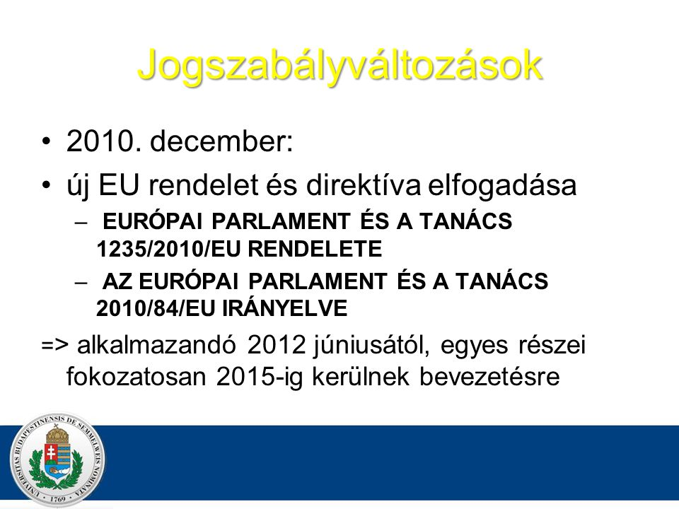 Jogszabályváltozások 2010.